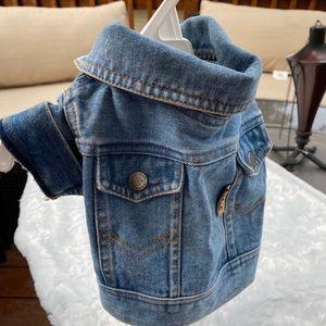 Blue Jean Denim Dog Jacket